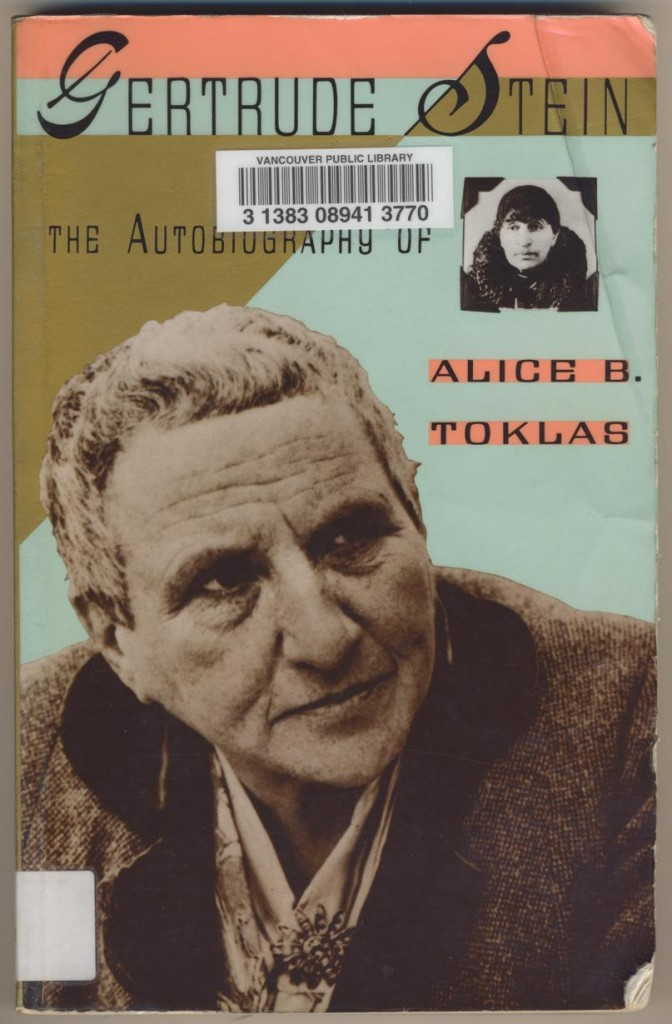 Gertrude Stein - The Autobiography Of Alice B Toklas
